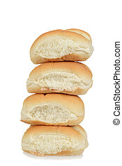 Stack of bread rolls