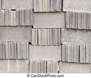 Stack of bricks for construction