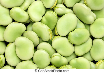 broad beans - stack of broad beans as background