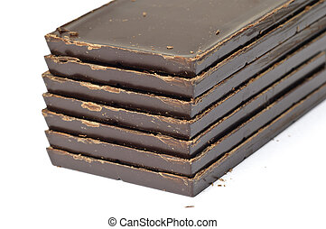 Stack of brown chocolate
