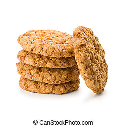 stack of brown cookies
