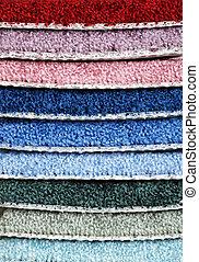 stack of carpet samples