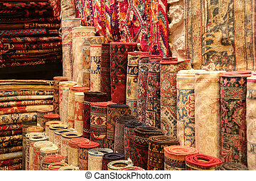 Carpets in Istanbul - Stack of Carpets in Istanbul City, ...