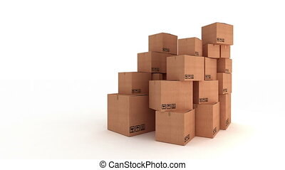"""""""Stack of carton boxes"""""""