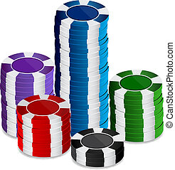Stack of casino chips