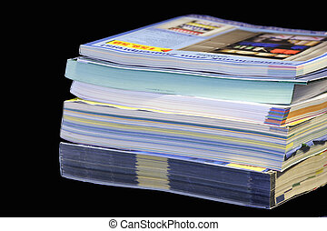 stack of catalogues 01 - colorful stack of mail order...