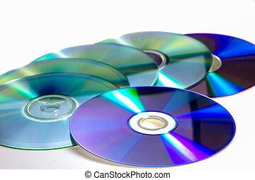 Stack of cd roms. CD & DVD