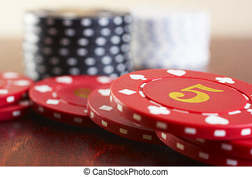Stack of chips - Stack of casino chips