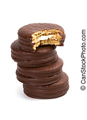 stack of chocolate cookies
