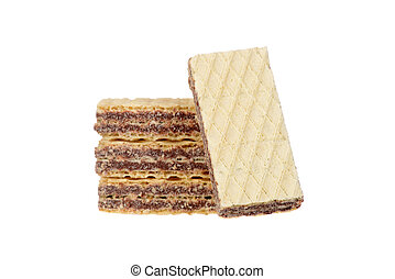 stack of chocolate wafer cookies