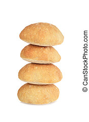 stack of ciabatta bread rolls