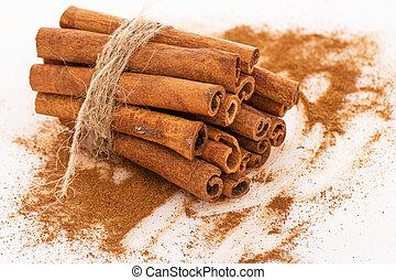 Stack of cinnamon