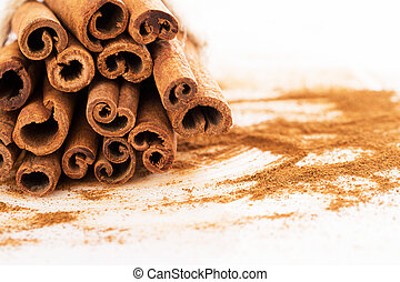 Stack of cinnamon