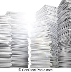 stack of clean, white paper. 3d illustration