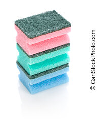 stack of cleaning sponge