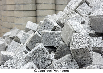 stack of cobblestone.