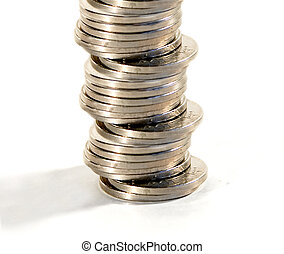 Stack of Coins - A stack of norwegian kroner