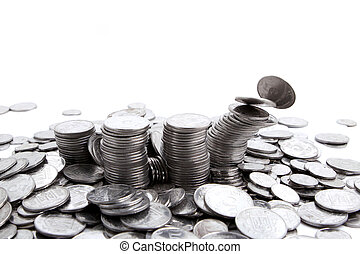coins isolated on a white background