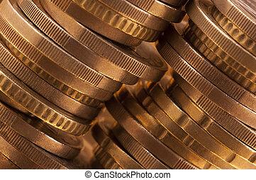 Stack of coins, macro shot