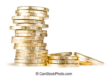 stack of coins (russian 10 rubles)