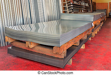 Cold steel coils in warehouse