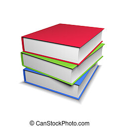 Stack of colorful book