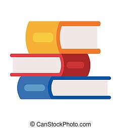 Stack of Colorful Books, Reading and Education, Back to School Concept Flat Style Vector Illustration