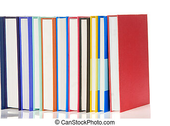 stack of colorful isolated on white