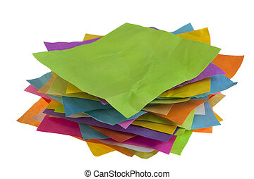 stack of colorful paper notes