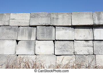 concrete blocks - stack of concrete blocks
