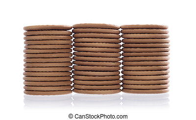 Stack of cookies isolated