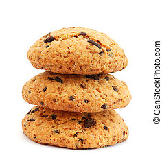 Stack of cookies with chocolate