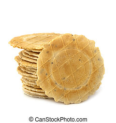 Stack of Crackers Isolated