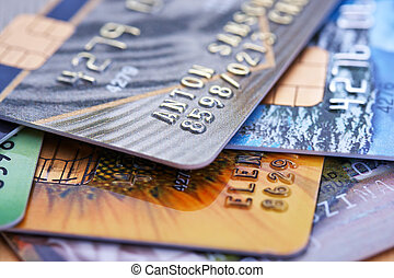 credit cards - Stack of credit cards
