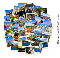 Stack of Croatia travel photos - nature and travel background (my images)
