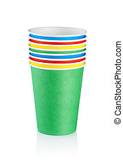 Stack of disposable cups