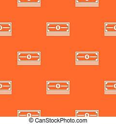 Stack of dollars pattern seamless