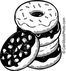 Stack of dough nut
