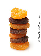Stack of dried apricots