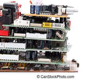 Stack of electronic plate