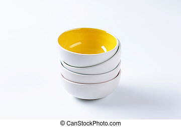 Stack of empty bowls