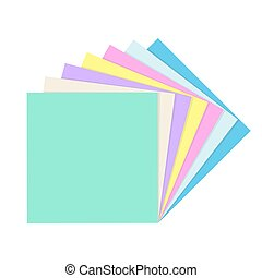 Stack of empty square paper notes