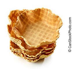 empty waffle baskets