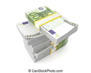 Stack of euro currency