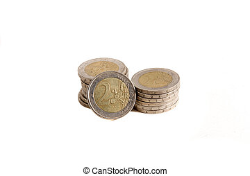 stack of euros coins