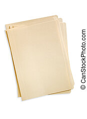 Stack of File Folders (With Path) - Stack of manilla file...