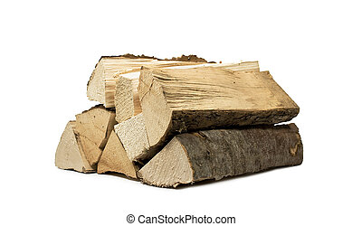 firewood - stack of firewood for the stove