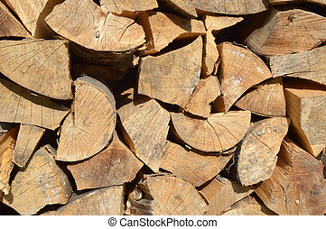 Stack of firewood for the winter