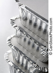 Stack Of Foil Take Away Containers