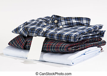 Stack of folded shirts